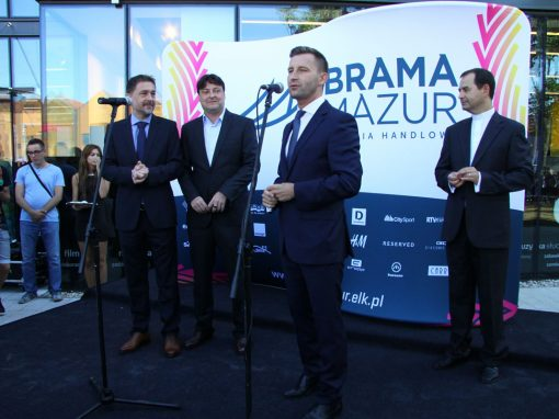 Opening of Brama Mazur shopping mall